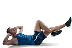 Man doing tummy crunches Stock Photo