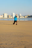 Man doing walking lunges exercise before running Royalty Free Stock Photo