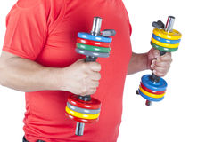 Man doing weight training Stock Photography