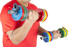 Man doing weights Royalty Free Stock Photo