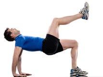 Man doing workout Stock Photography