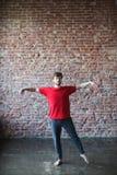 Man doing workout. Man makes exercises / workout Stock Image