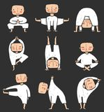 Man doing Yoga Asana Collection Stock Photos