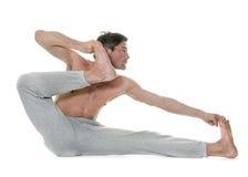 Man doing yoga Stock Photography