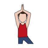 Man doing yoga yogi icon image Royalty Free Stock Photos