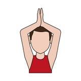 Man doing yoga yogi icon image Stock Photos