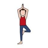 Man doing yoga yogi icon image Royalty Free Stock Photo