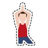 Man doing yoga yogi icon image Royalty Free Stock Photography