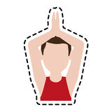 Man doing yoga yogi icon image Stock Image