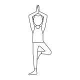 Man doing yoga yogi icon image Stock Photo