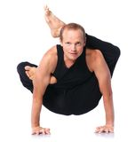 Man doing yoga Royalty Free Stock Image
