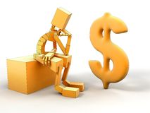 Man And dollar Stock Photography