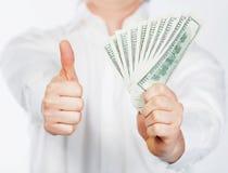 Man with dollars Stock Photos