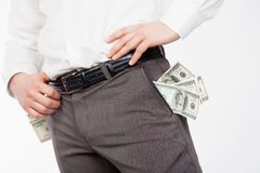 Man with dollars Stock Photo