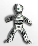 Man of dollars Stock Image