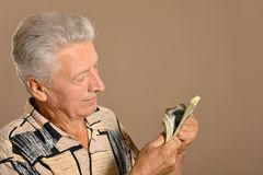Man with dollars Stock Photos