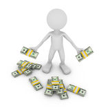 Man with dollars Royalty Free Stock Photography