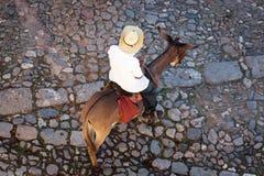 Man on donkey Stock Photography