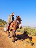 Man with a donkey in Morocco Royalty Free Stock Photo