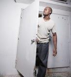 Man by the door Stock Photos
