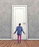 Man before a door Royalty Free Stock Photography