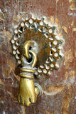 Man Door Knocker. Door Handle for man in traditional iranian home royalty free stock photo