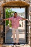 Man In A Doorway stock photos
