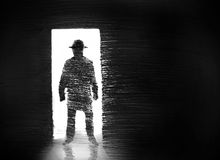A man in the doorway Stock Photography