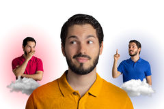 Man in doubt about what to do. royalty free stock photos