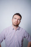 Man with doubtful and skeptic face. Expression Royalty Free Stock Photos