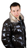Man in down-padded coat Stock Image