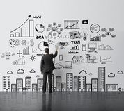 Man drawing business concept Stock Images