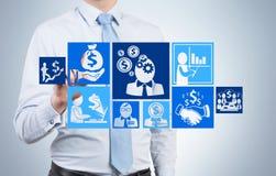 Man drawing business plan Royalty Free Stock Image