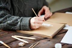 Man drawing Stock Photo