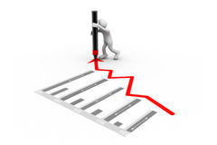 Man drawing a growth graph Royalty Free Stock Images