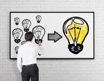 Man drawing idea concept Royalty Free Stock Photo