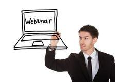 Man drawing image on blackboard Stock Photos
