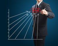 Man drawing success chart Stock Photos