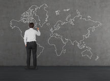 World map drawing on wall stock photo image of computer 48312018 man drawing world map royalty free stock photos gumiabroncs Choice Image