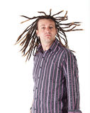 Man with Dreadlocks Royalty Free Stock Images