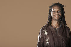 Man With Dreadlocks Smiling Stock Photography