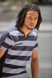 Man with dreads Stock Photo