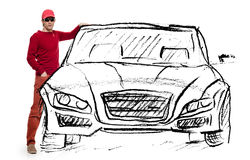Man dream car royalty free stock images