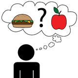 Man dream at food Stock Images