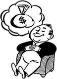 Man Dreaming Of Money Stock Photos