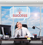 Man dreaming on success Royalty Free Stock Images