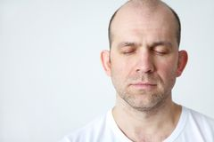 Man in dreams Royalty Free Stock Photography