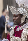 Man of dress of Roman popular tradition during Easter, Roman soldiers, called Armaos, of El Nazareno brotherhood, Good Stock Image