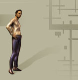 Man dressed 1. Illustration of a casual or trendy man Royalty Free Stock Image