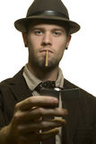 Man dressed in 1930's style clothing Stock Image